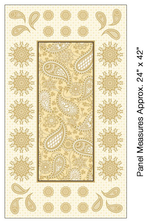 5491M 07 Jubilee Embroidery Panel Cream Amanda Murphy Benartex
