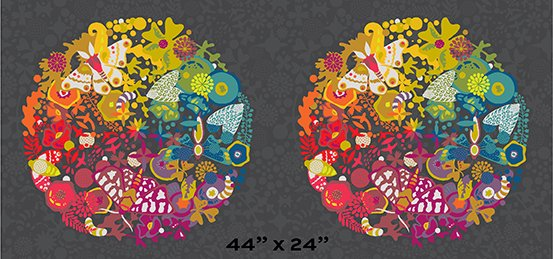 A-9697-C Night Art Theory Grand Circle Panel 24 x 44 Art Theory by Alison Glass Andover