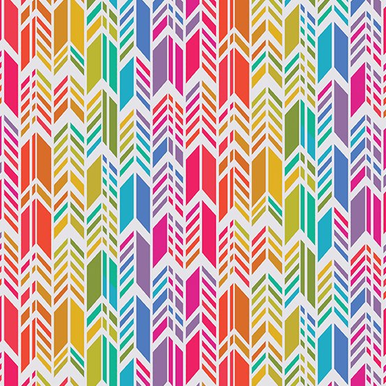 A-9701-L Day Rainbow Feather Art Theory by Alison Glass Andover