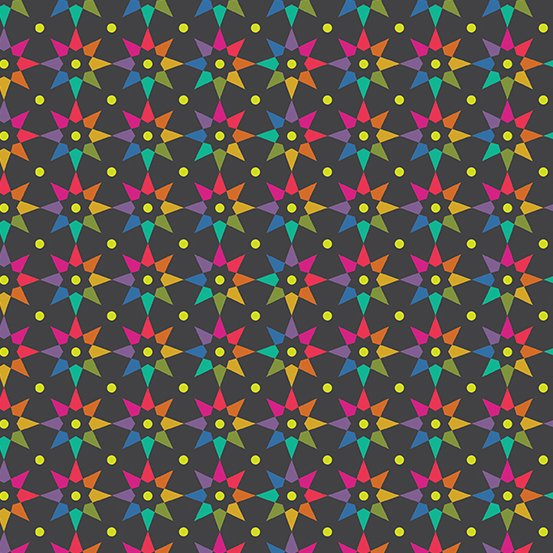 A-9703-C Night Rainbow Star Art Theory by Alison Glass Andover