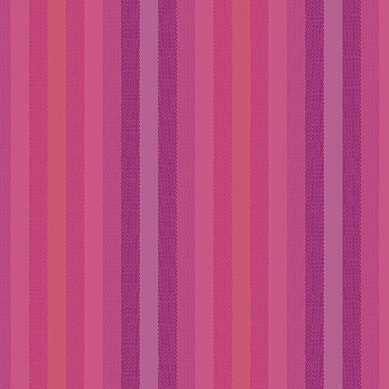 WV-9540-MAGENTA Magenta WOVEN Stripes and Plaids Kaleidoscope by Alison Glass Andover