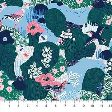 90075 45 Navy Salt Winds by Emily Taylor FIGO Fabrics