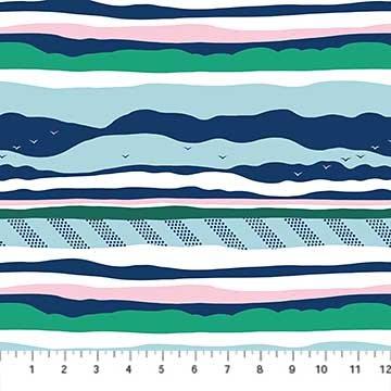 90076 45 Navy Salt Winds by Emily Taylor FIGO Fabrics