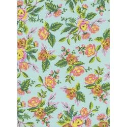 AB8030-001 Menagerie Rifle Paper Co Teal Roses