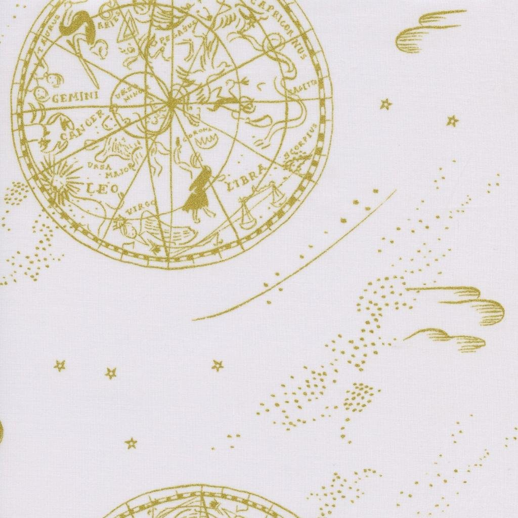 AB8034-011 Menagerie Rifle Paper Co Cream Gold Astrology Signs
