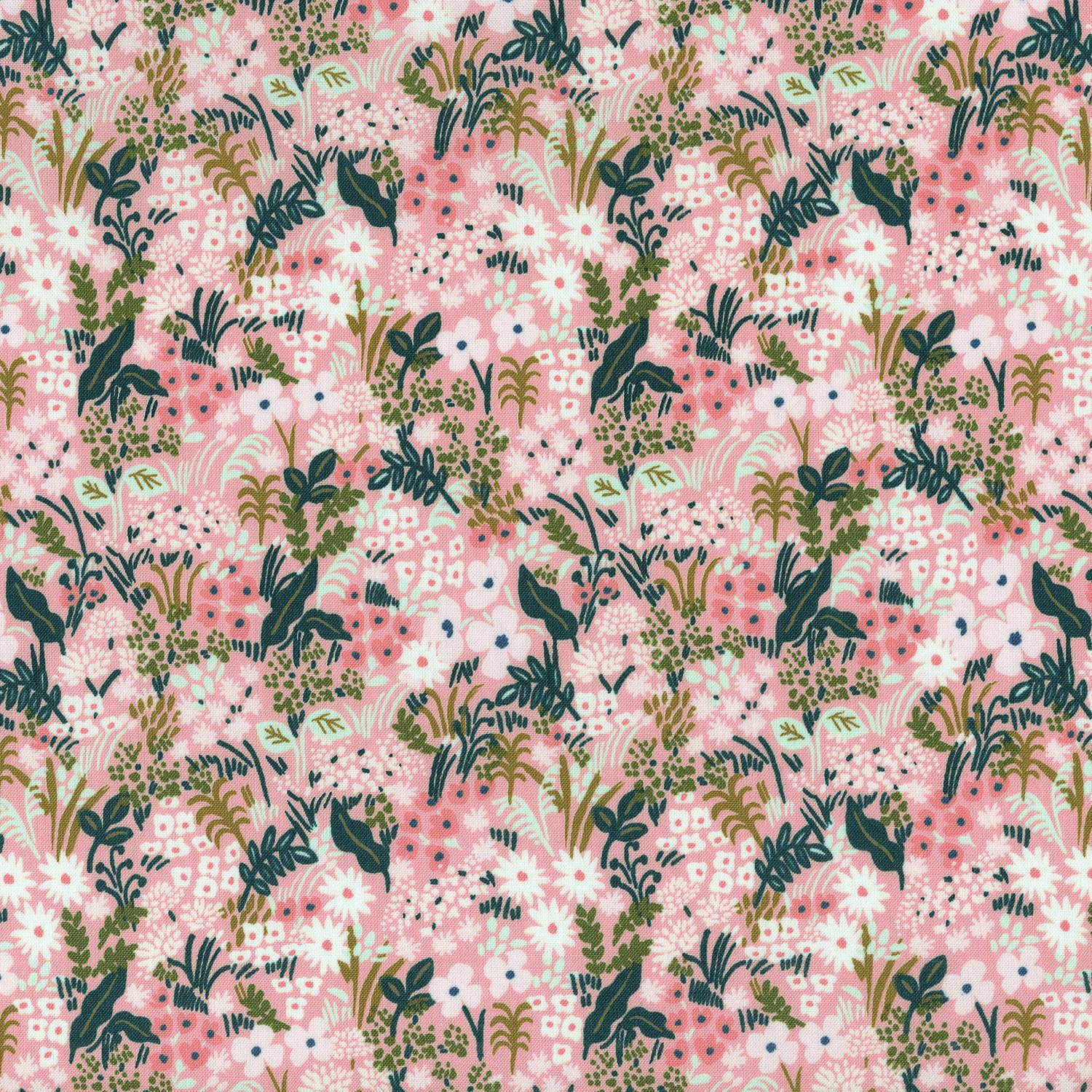 AB8059-003 English Garden Meadow Pink Cotton + Steel