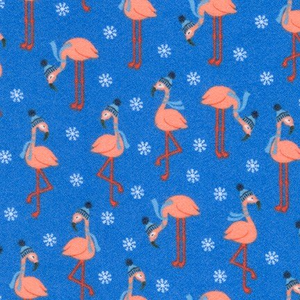 AHEF-18355-4 Blue Flamingo's Bundle Buddies FLANNEL Robert Kaufman