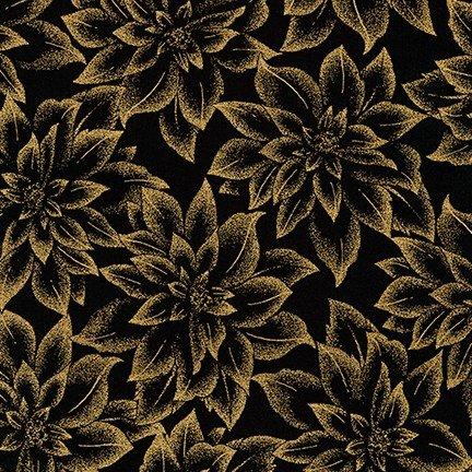 APTM-18344-2 Black Holiday Flourish Metallic 12 Robert Kaufman