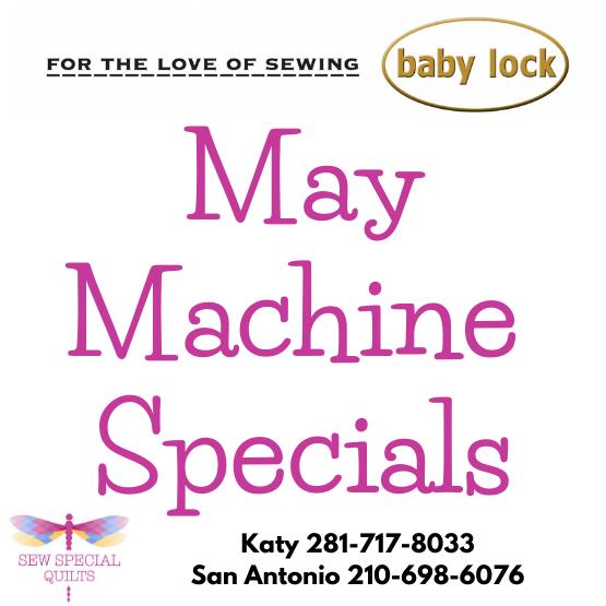 baby lock may specials