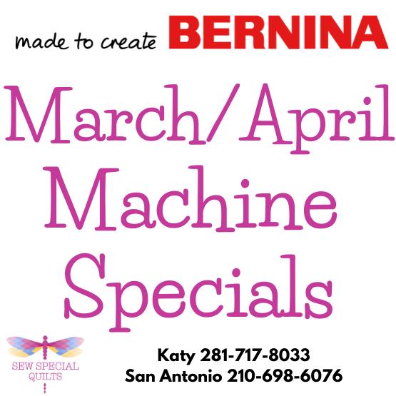 bernina march specials