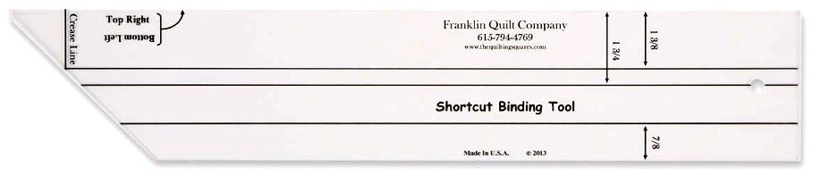 Shortcut Binding Tool Franklin Quilt Company