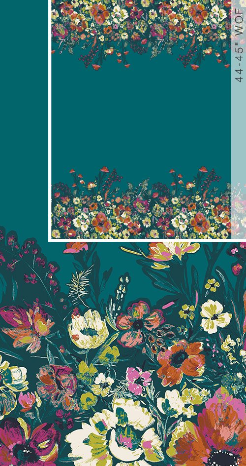 BLB-54728 Roads to Flowerhouse Bloomsbury by Bari J. Border Print Art Gallery Fabrics