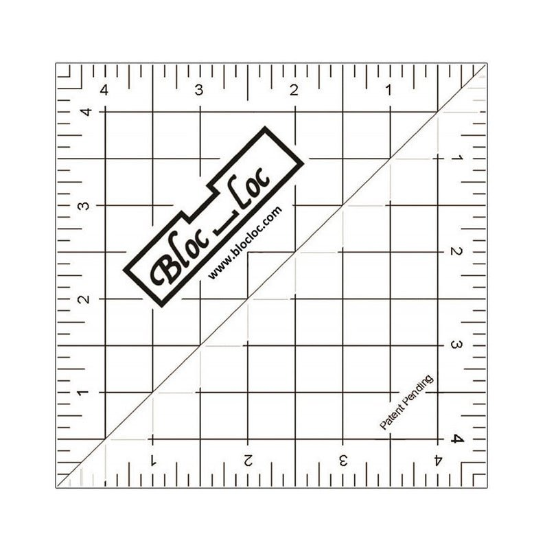 4.5 Bloc Loc Half Square Triangle Ruler