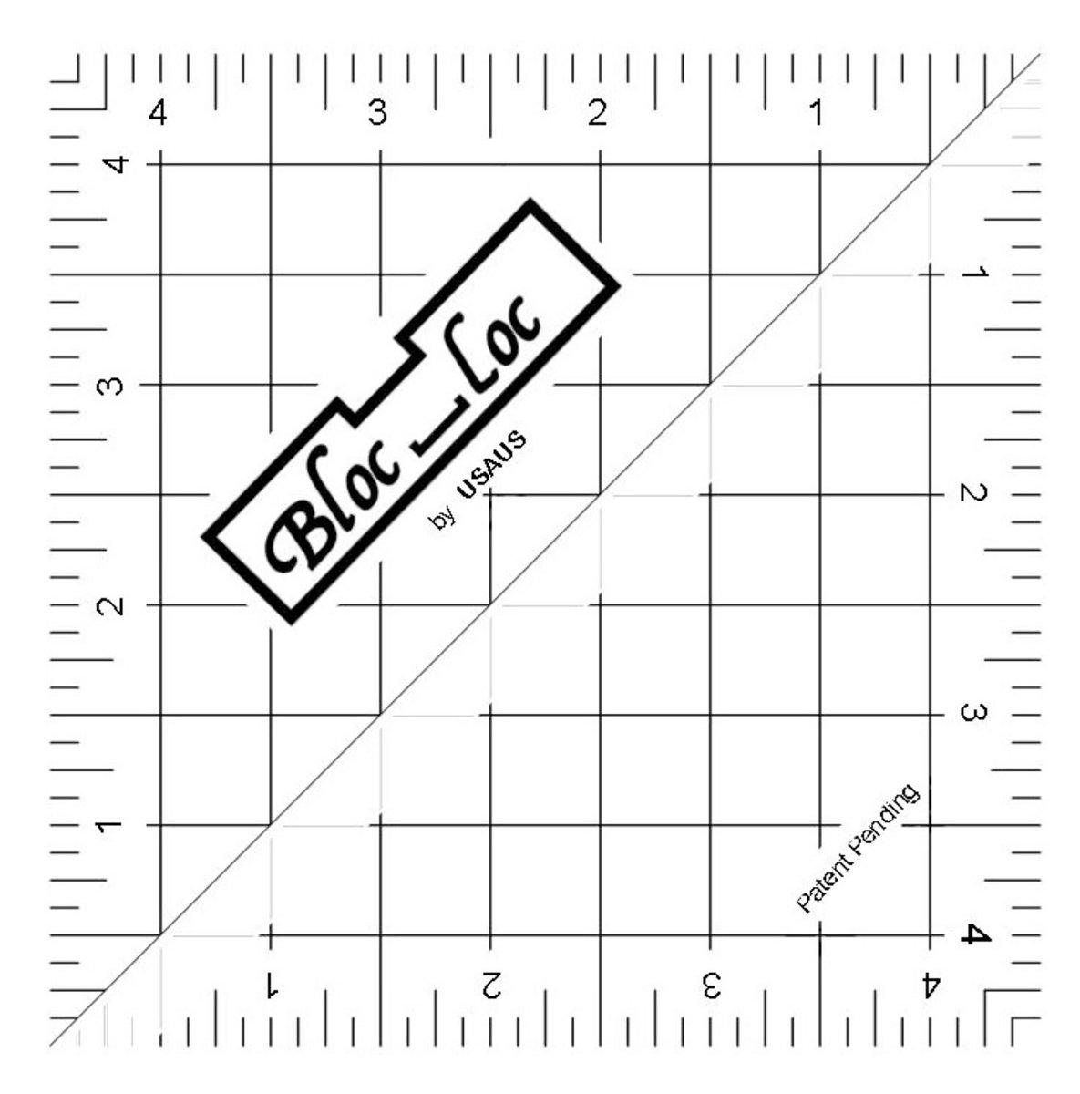 4.5 Bloc Loc Half Square Triangle Ruler
