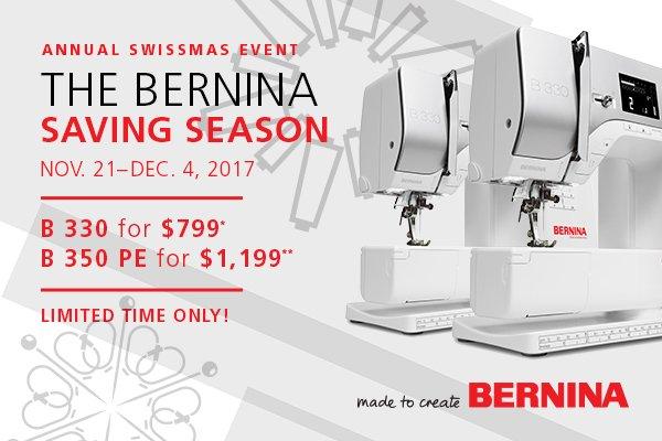 BERNINA Holiday Offer