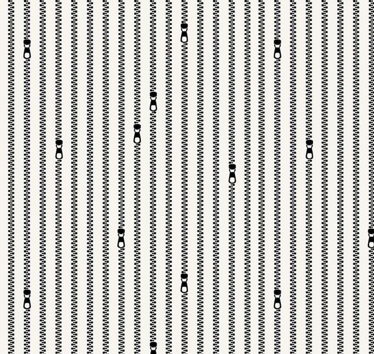 C10597-WHITE Zipper Stripes Old Made J. Wecker Frisch Riley Blake