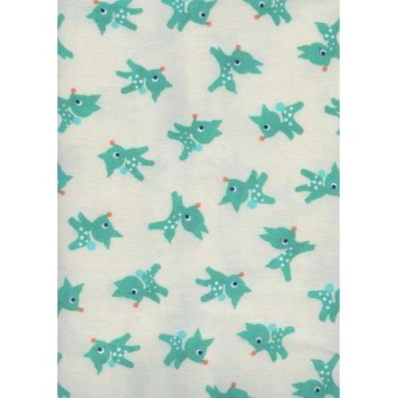5071 044 Ivory BRUSHED FLANNEL Twill Little Deer Garland Cotton & Steel
