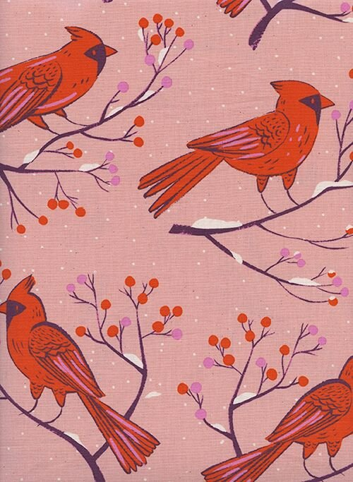 C5185-002 Pink Frost Winter Cardinals RJR