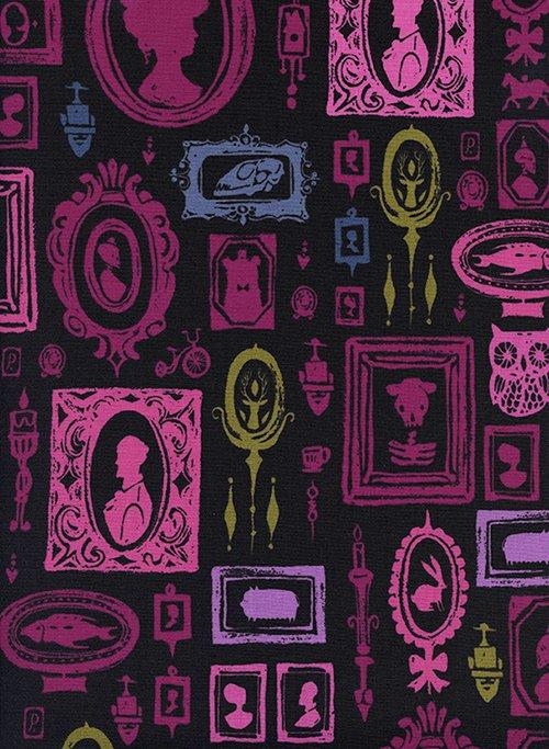 C5191-002 Eclipse - Haunted Hallway Purple Fabric Cotton & Steel