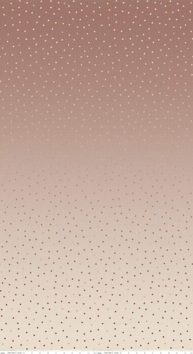 C8350-ROSEGOLD Neutral Rose Gold Tonal Ombre Gemstones Riley Blake