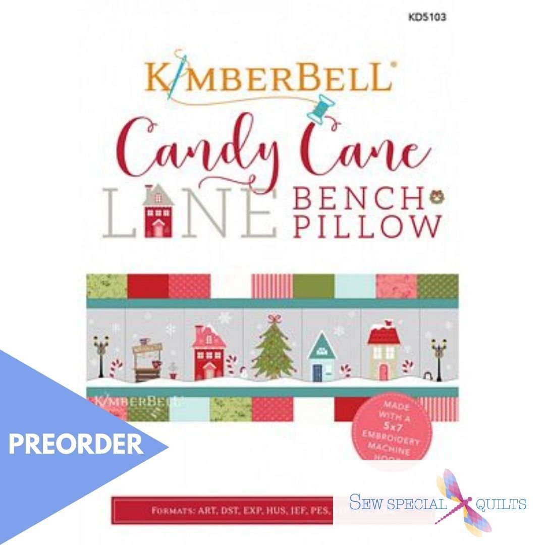 KD5103 Candy Cane Lane Bench Pillow CD - Embroidery Version Kimberbell