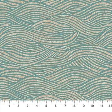 CL90093-40 Aqua Surface Linen CANVAS FIGO