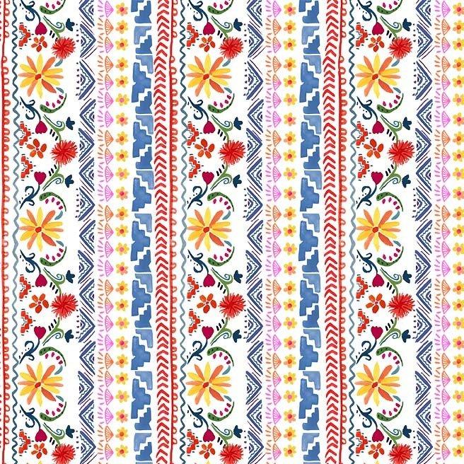CX9420-WHIT-D Siesta Stripe La Vida Loca Michael Miller Fabrics
