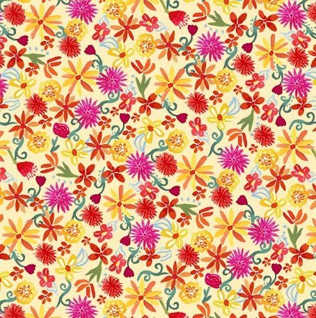 CX9421-YELL-D Flower Fiesta La Vida Loca Michael Miller Fabrics