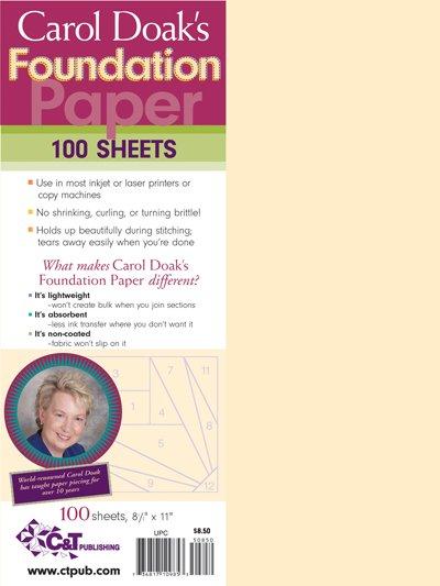 Carol Doak Foundation Paper 8.5 x 11