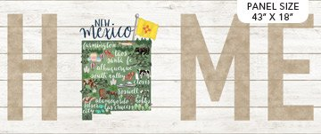 DP23160-10  New Mexico 18x43 My Home State Panel Northcott