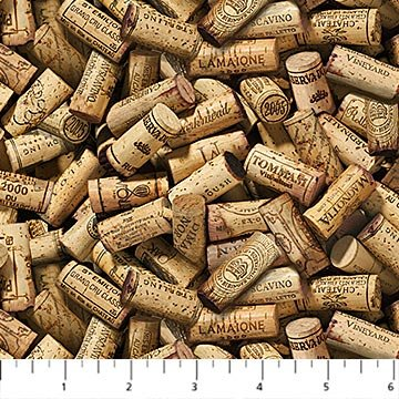 DP23579 14 Beige Wine Corks You Had Me at Wine Deborah Edwards Digital Print Northcott