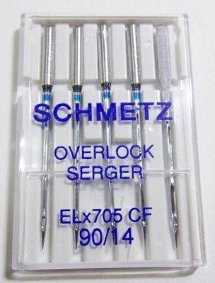 ELX705 Elna SERGER Chrome sz90 5PK  Schmetz