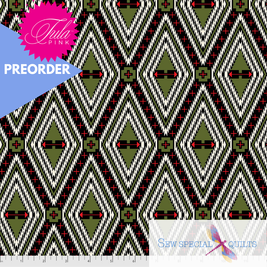 FNTP004.PINEFRESH Pine Fresh Family Tree FLANNEL Holiday Homies by Tula Pink Free Spirit
