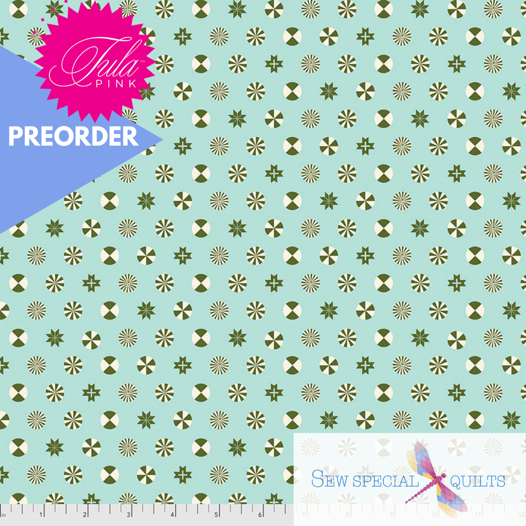 FNTP005.PINEFRESH Pine Fresh Peppermint Stars FLANNEL Holiday Homies by Tula Pink Free Spirit