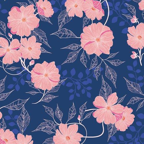FWR-34890 Midnight Garden from Flowerette Art Gallery Fabrics