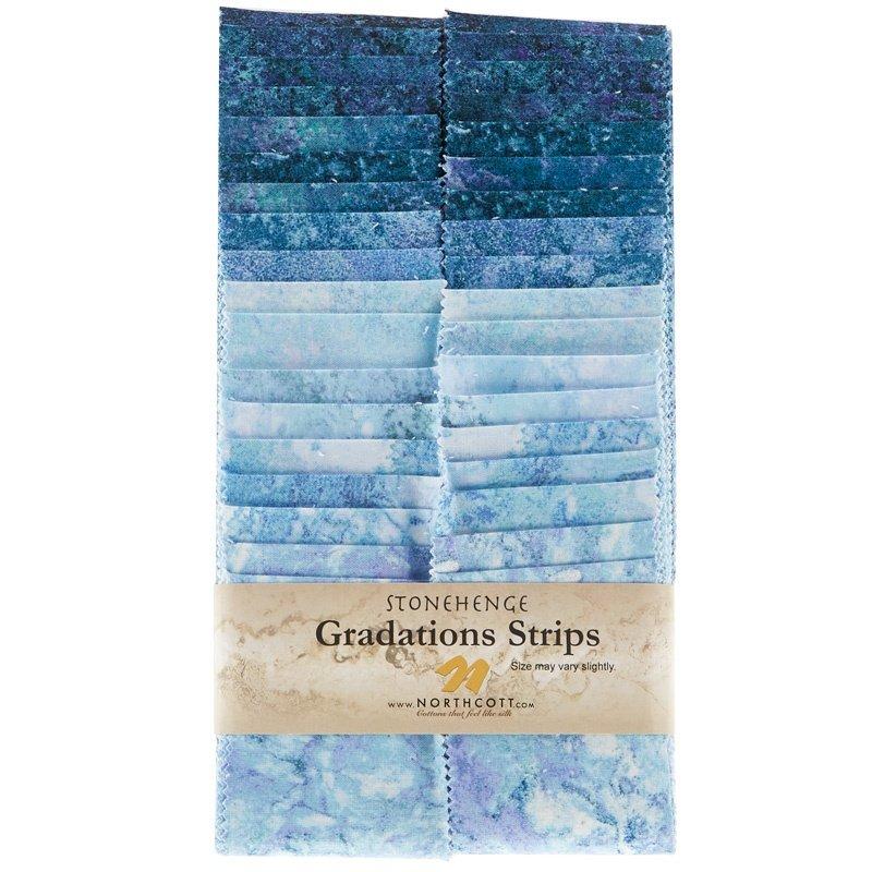 SSTONE40-46 Stonehenge Gradations Strips Mystic Midnight Northcott