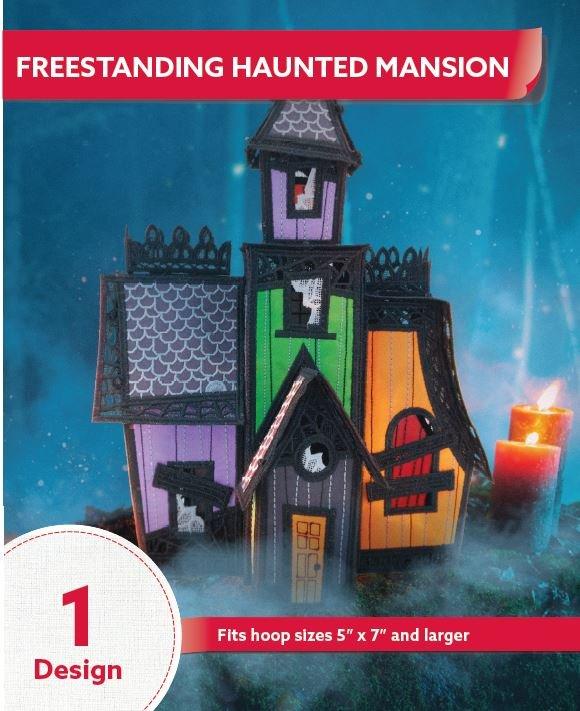 12830CD Freestanding Haunted Mansion