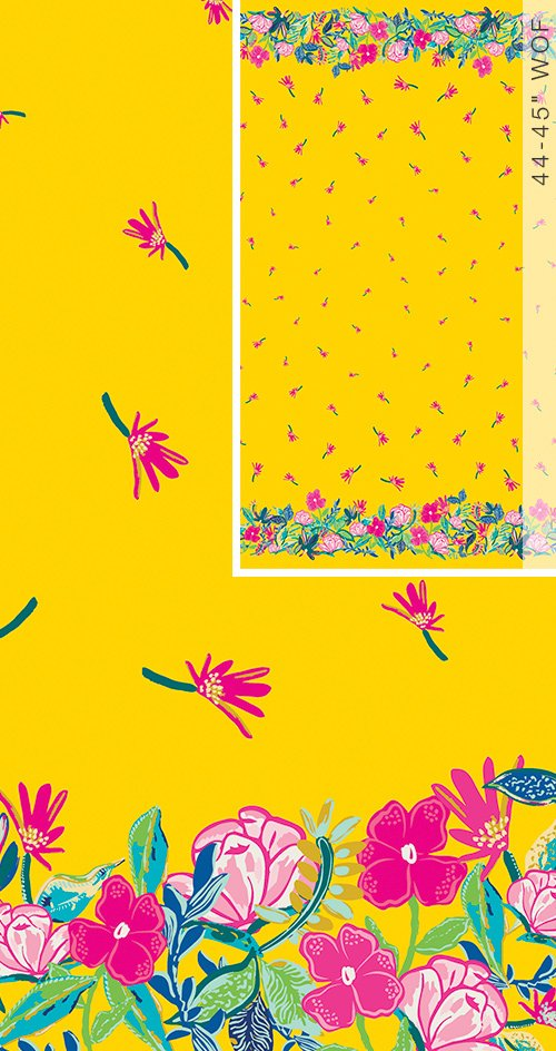 HLS-66961 Sunny Days Ahead Double Border Print Hello Sunshine Art Gallery Fabrics
