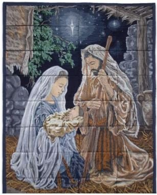 T-80301 O Holy Night Tiling Scene