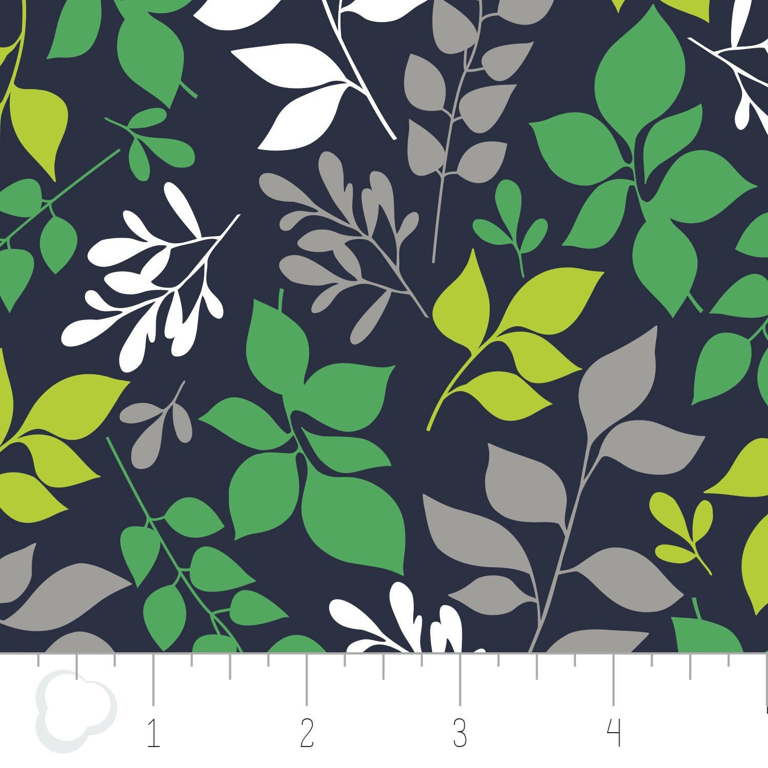 4141601G -02 Green with Floral Envy DOUBLE GAUZE Camelot Fabrics