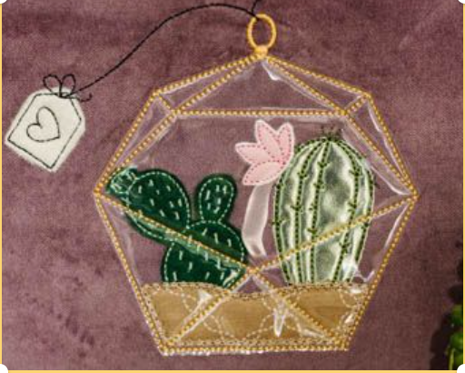 KIT for Cactus Love Zipper Pouch April 2021 Fill In the Blank Kimberbell