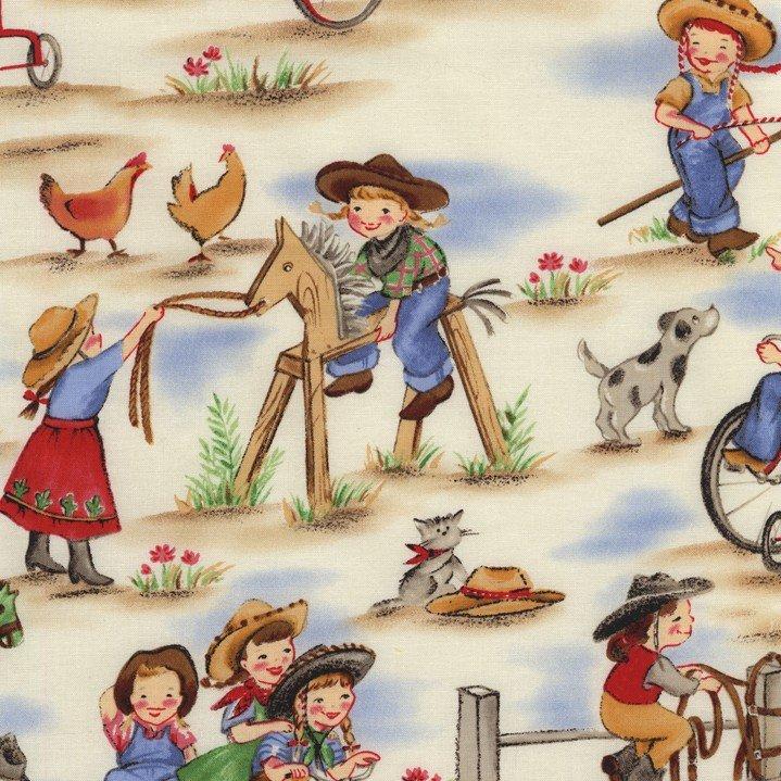 CX0633-DENI-D Lil' Cowgirls Michael Miller