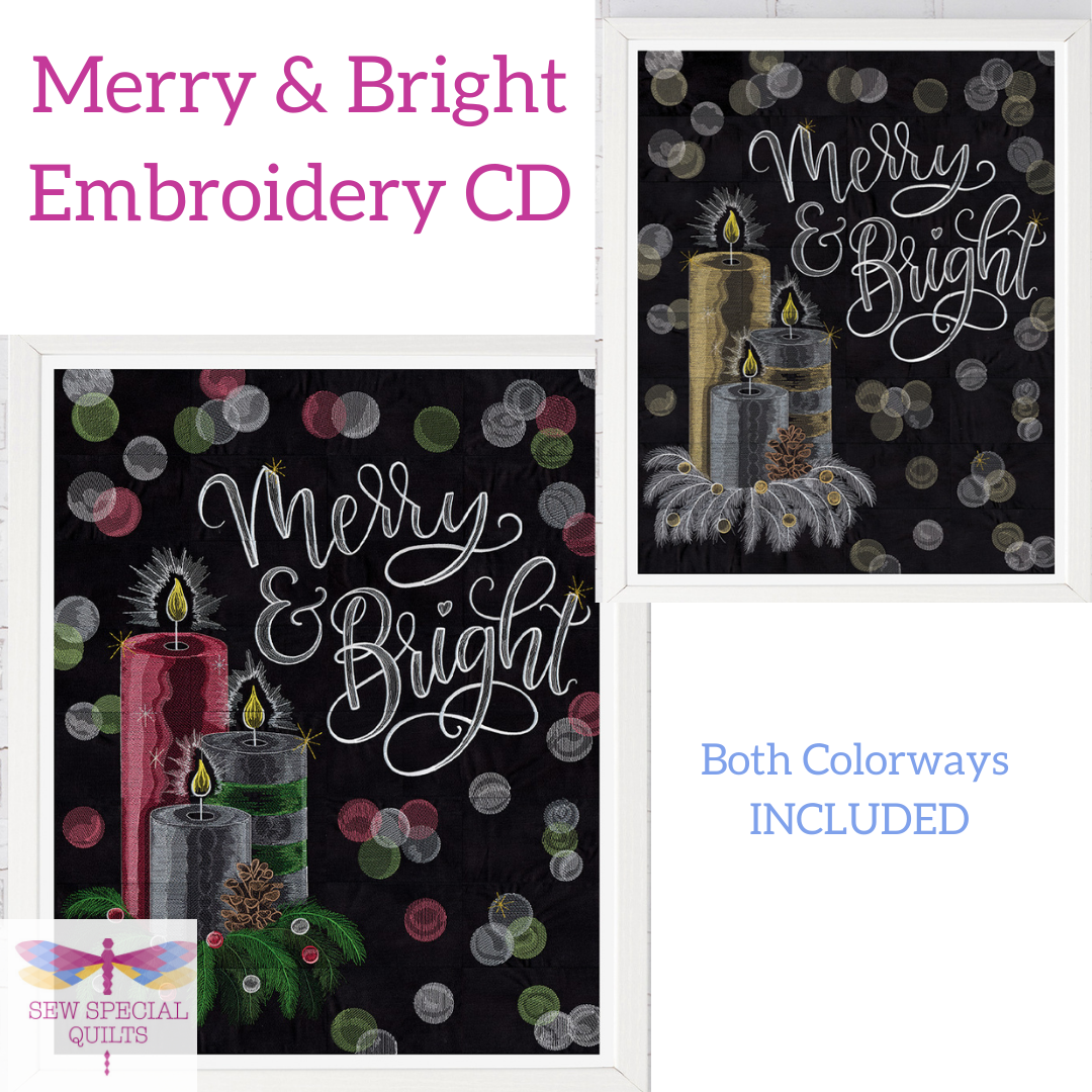 Merry & Bright Tile Scene CD by Scissortail Stitches