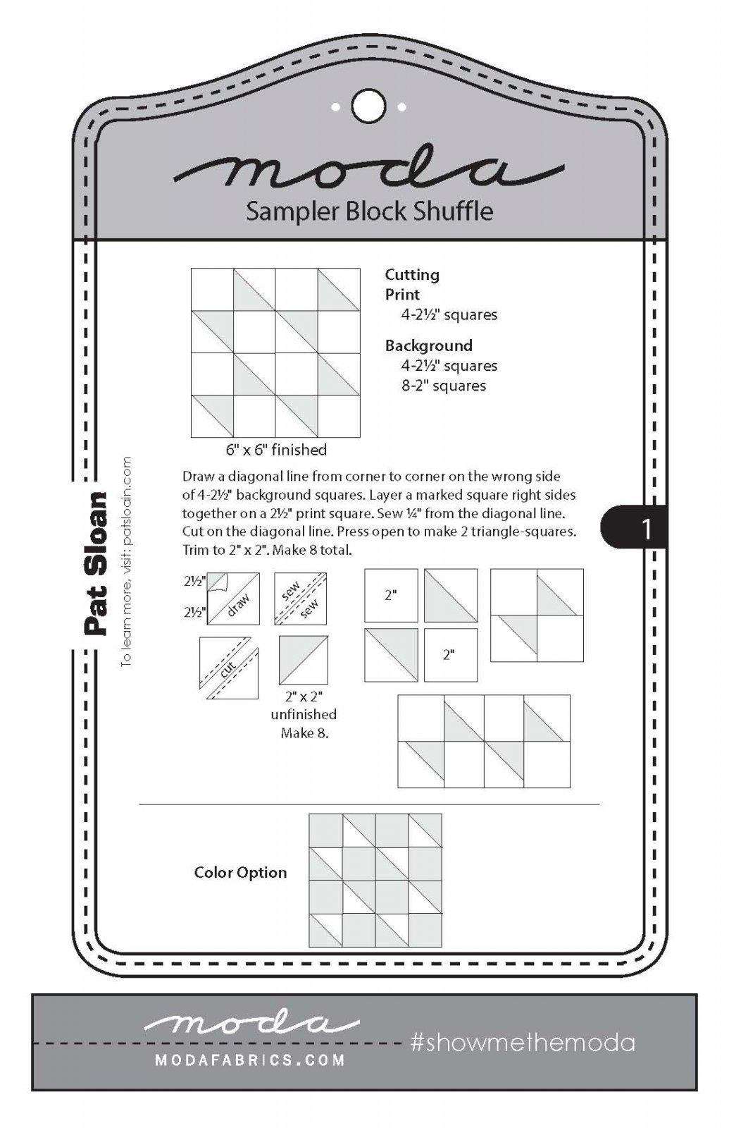 Moda Sampler Block 1