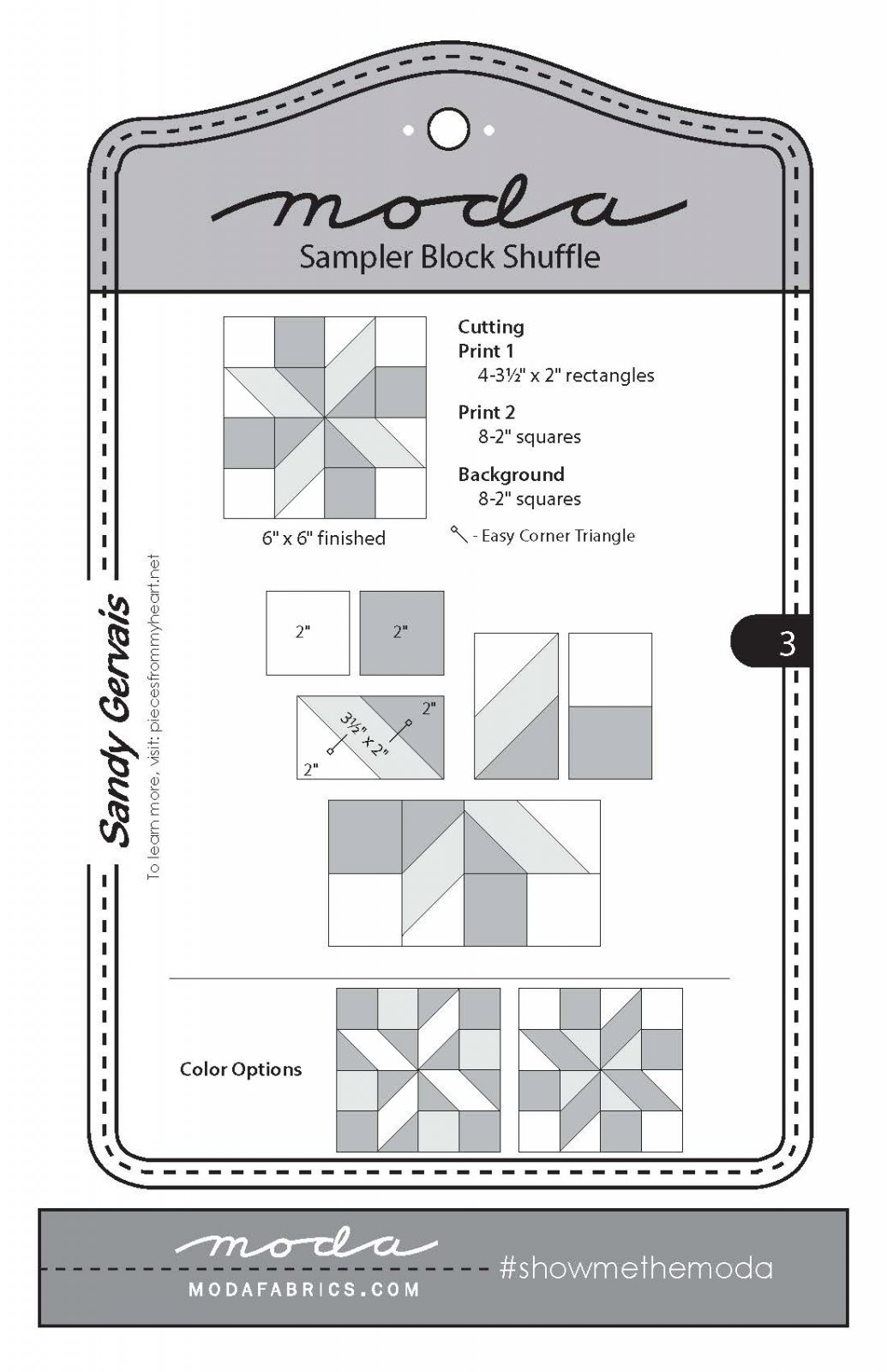 Moda Sampler Block 3