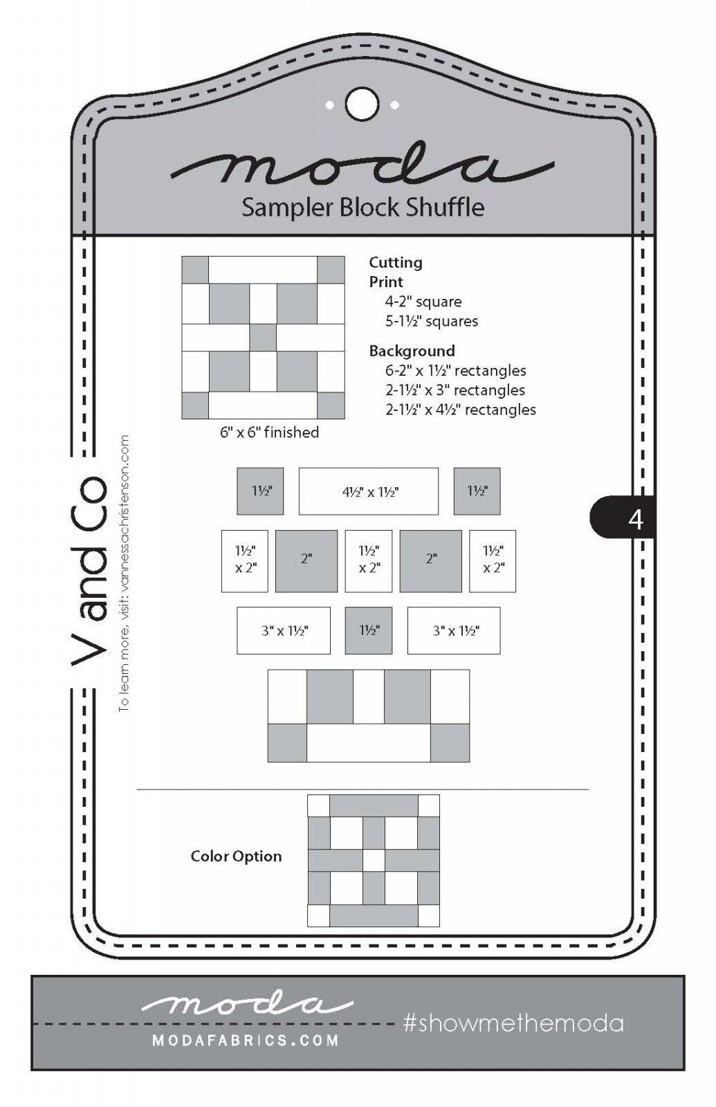 Moda Sampler Block 4