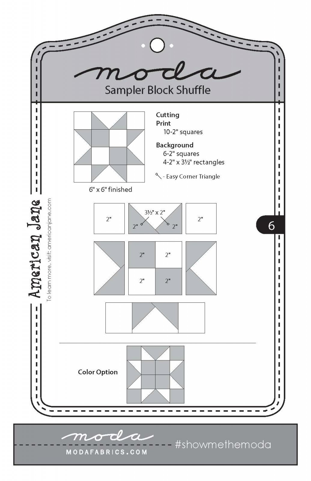 Moda Sampler Block 6