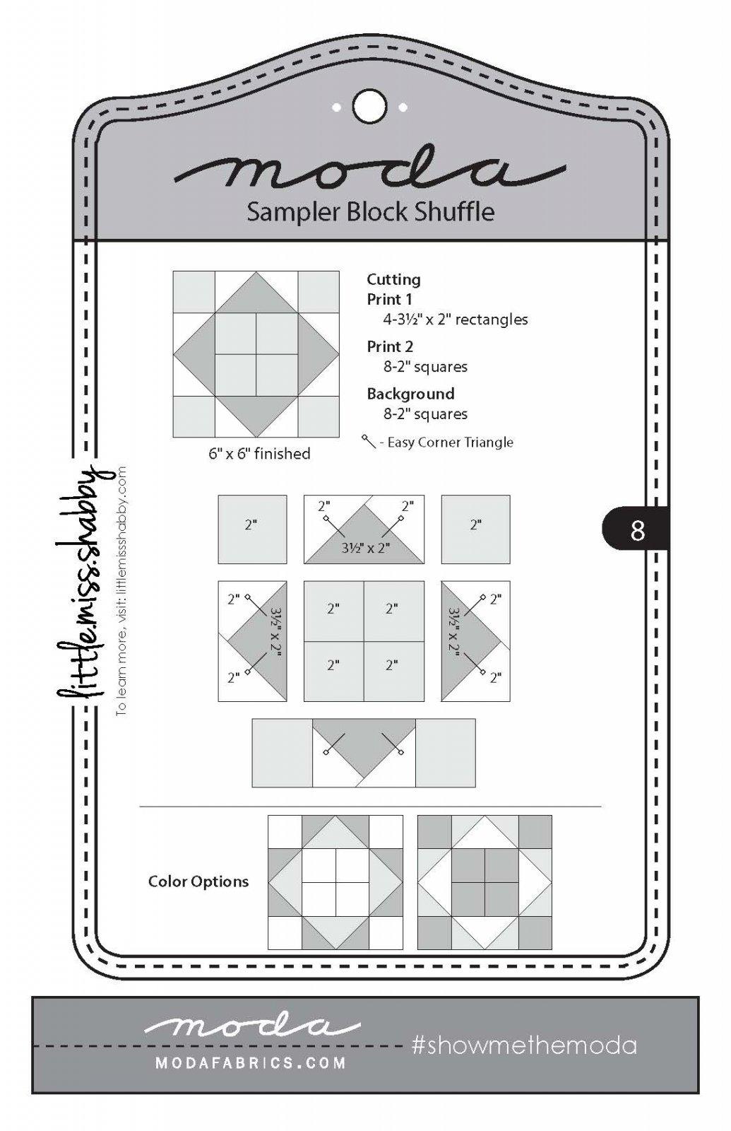 Moda Sampler Block 8
