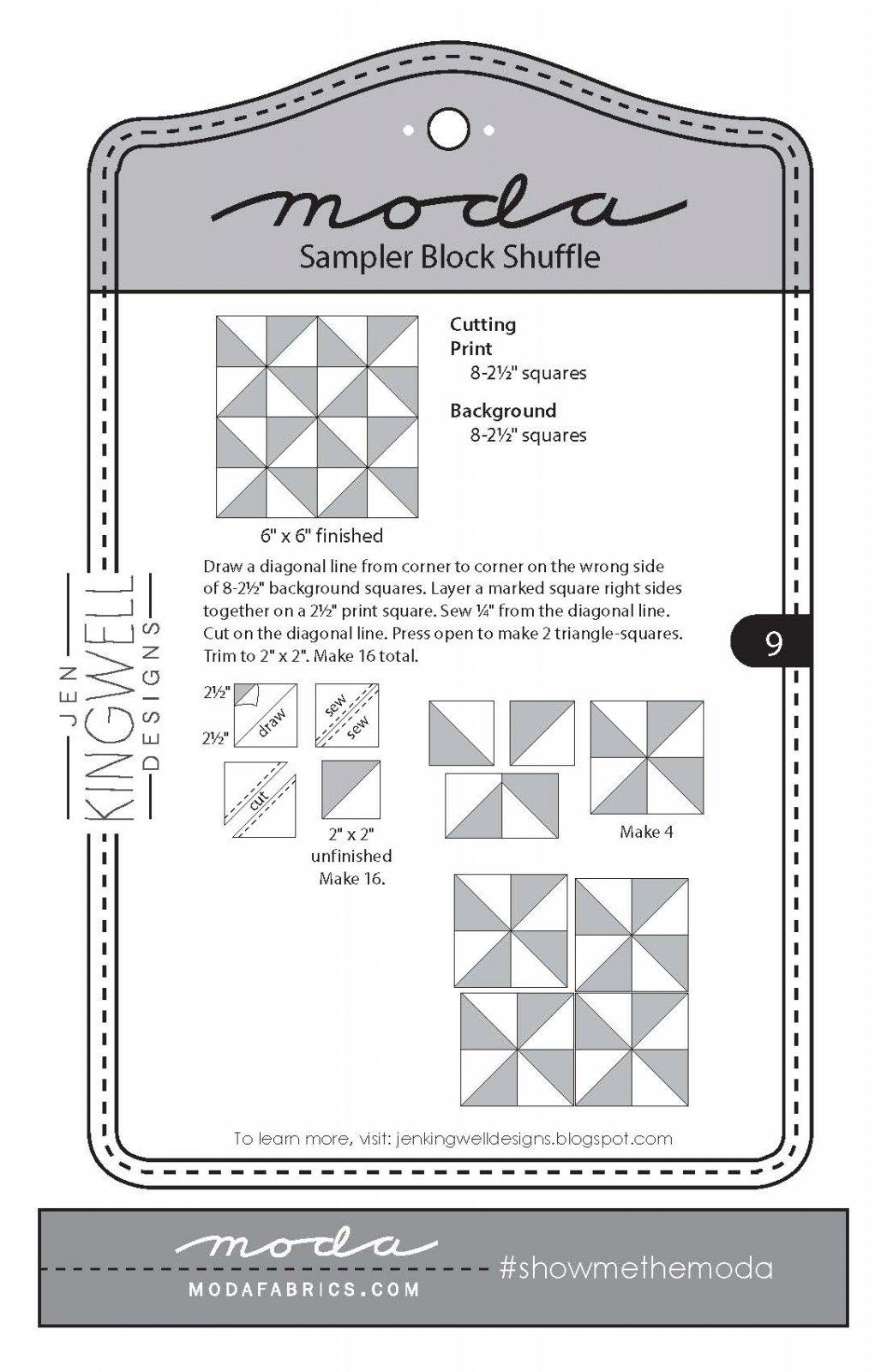 Moda Sampler Shuffle Block 9