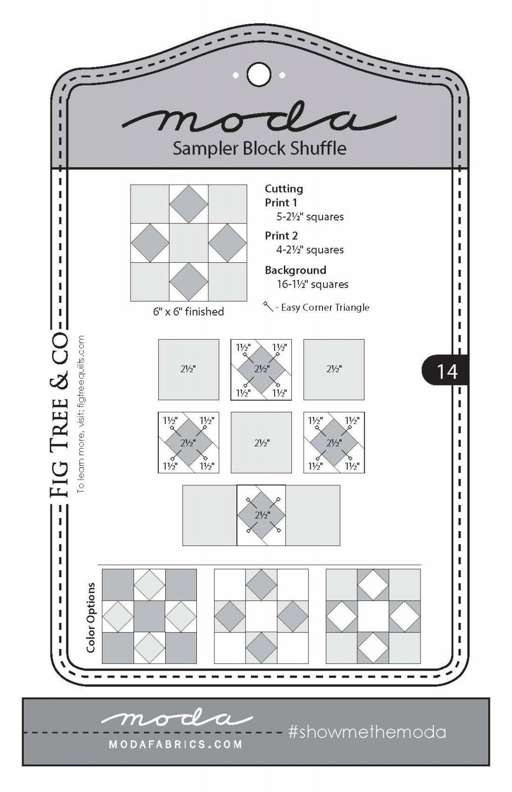 Moda Sampler Shuffle Block 14